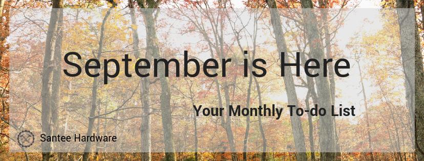 september home maintenance list