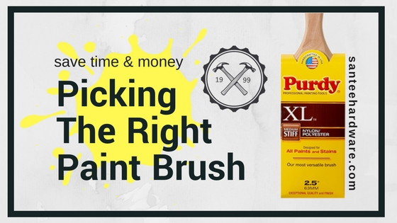 Picking the right paint brush cover photo with Purdy brush.