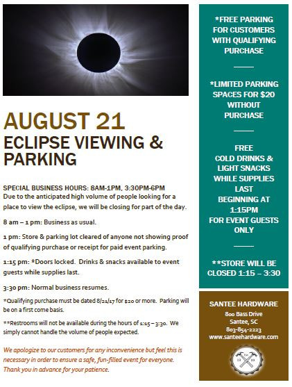 Eclipse Viewing Flyer