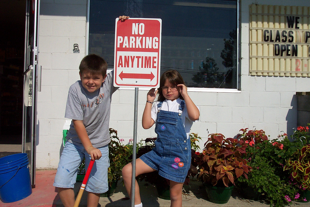 Our Kids at the beginning of Santee Hardware