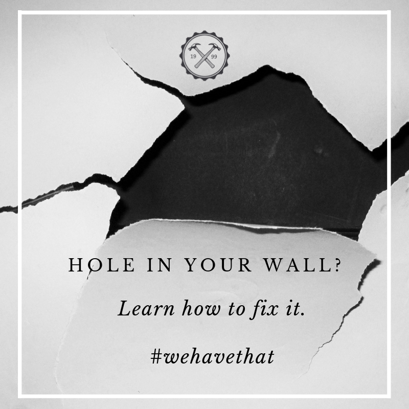 Learn how to patch a hole in your drywall