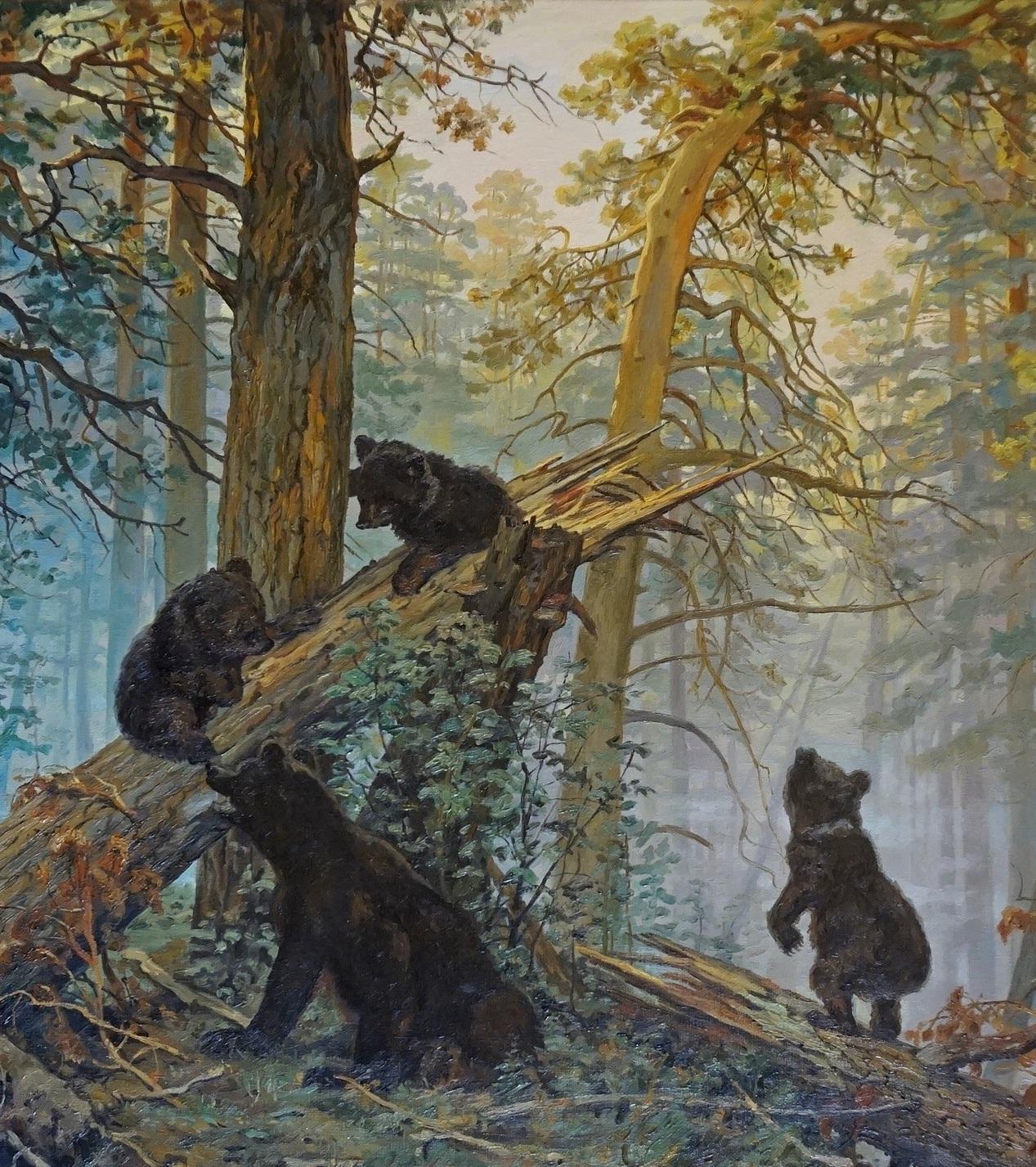 Утро в сосновом лесу. Фрагмент