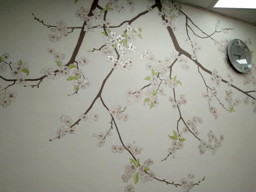 Ветка цветущей сакуры