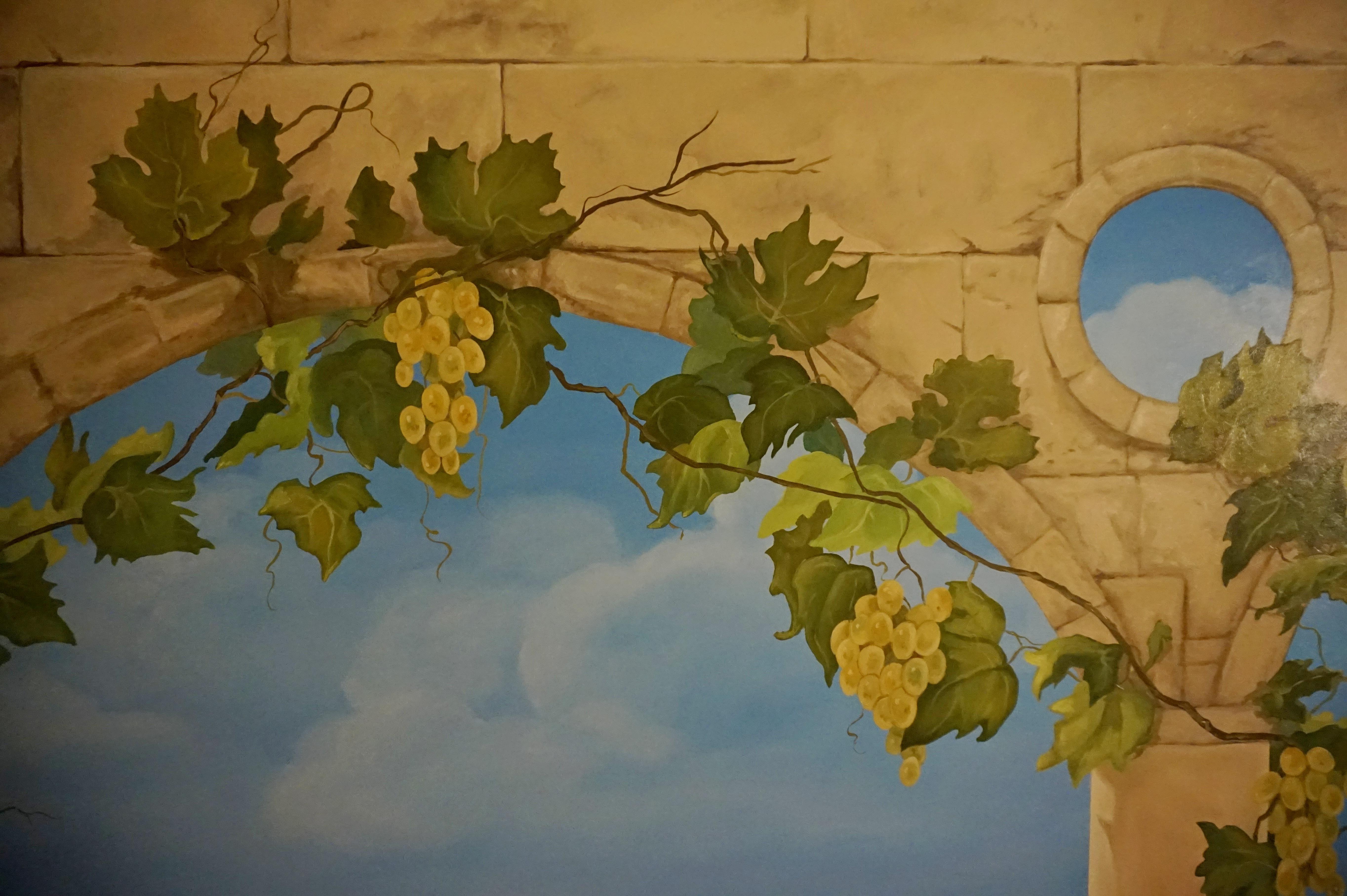 Виноград. Фрагмент росписи