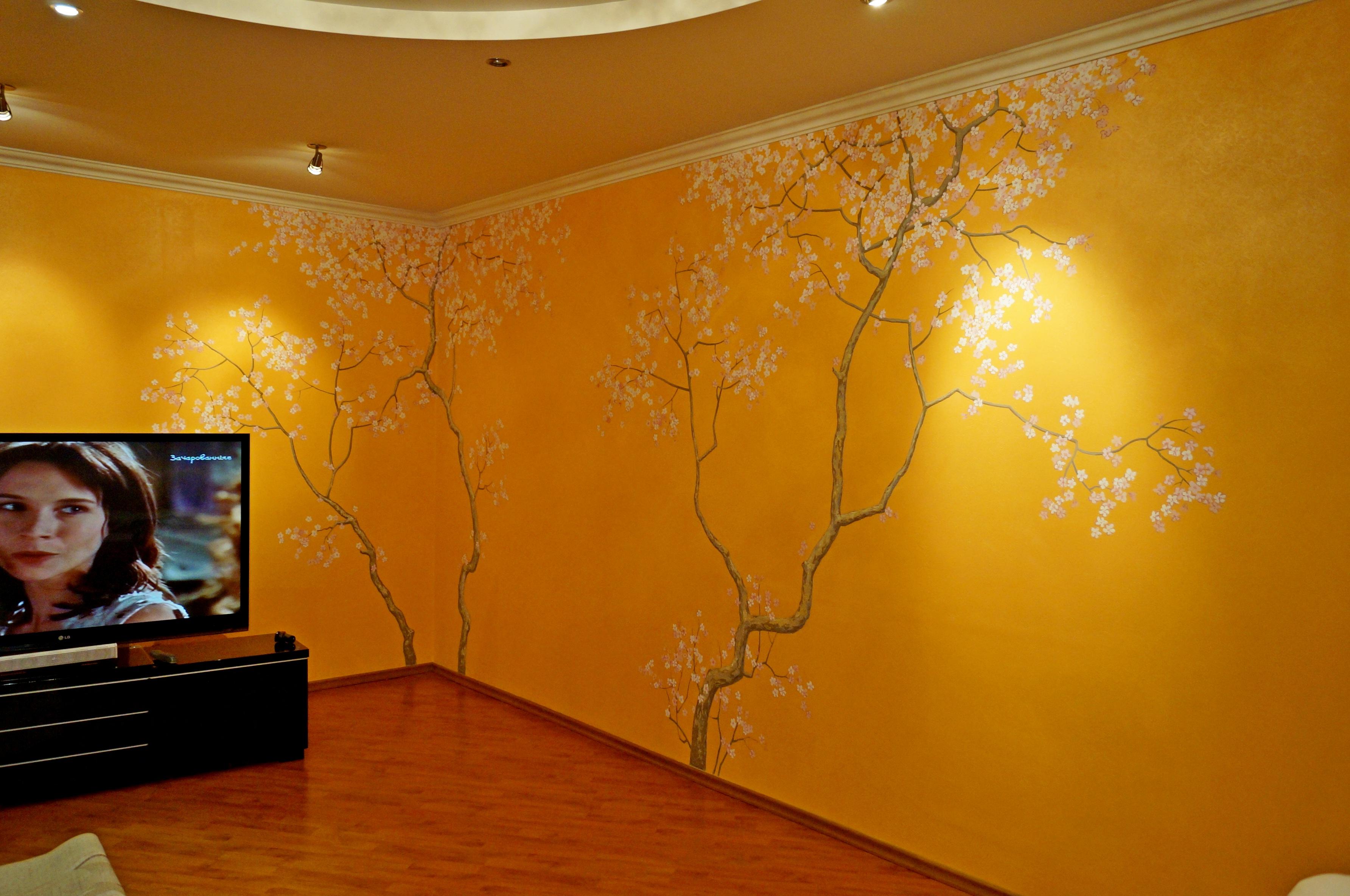 Сакура. Роспись гостиной