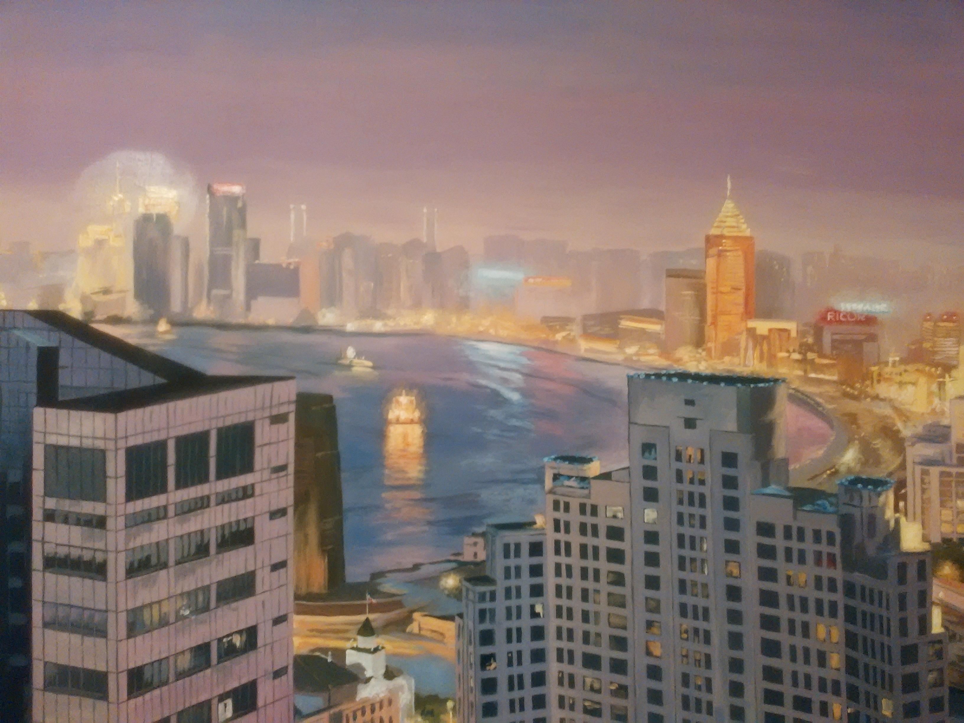 Ночной Шанхай. Роспись в спальне