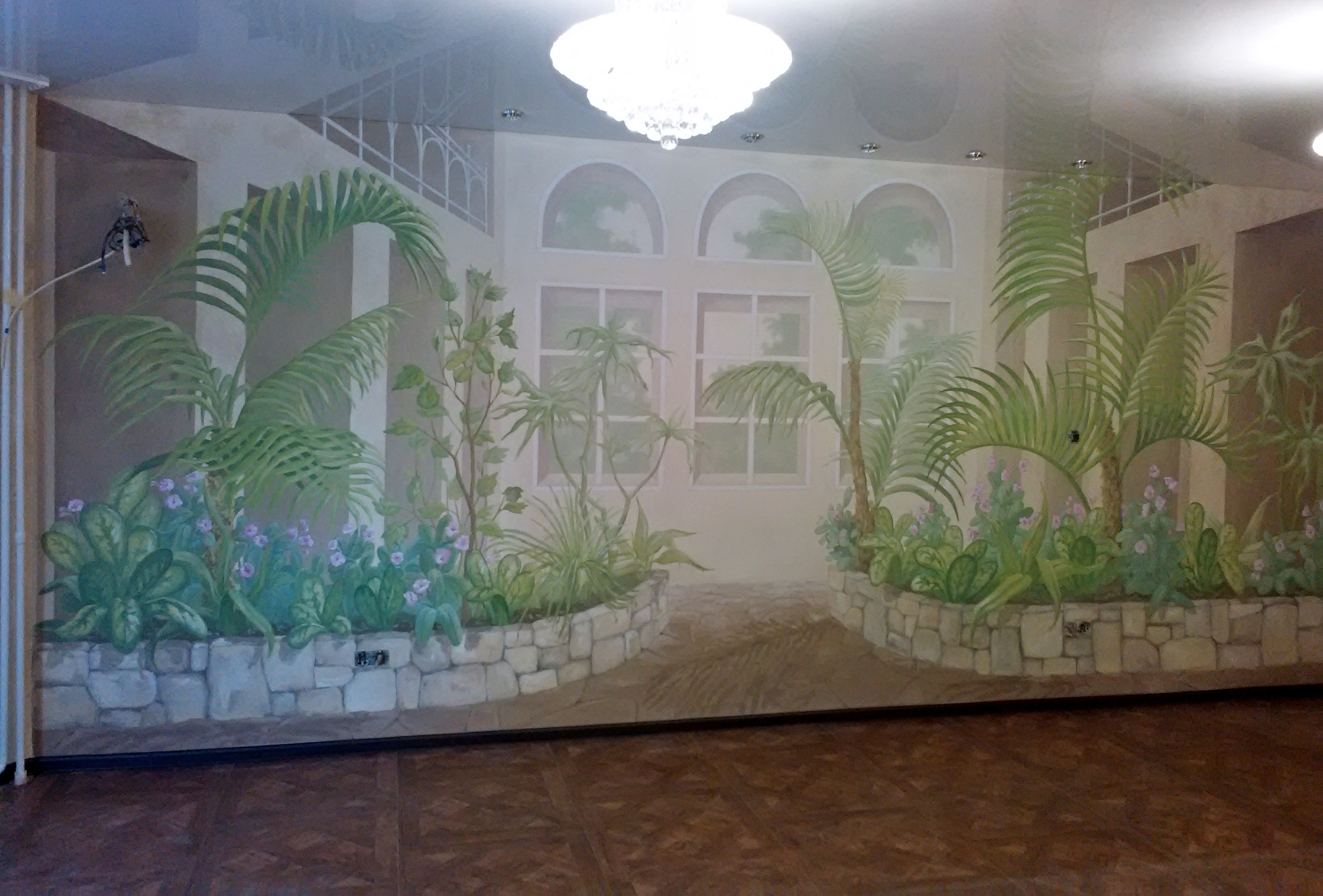 Зимний сад. Роспись гостиной