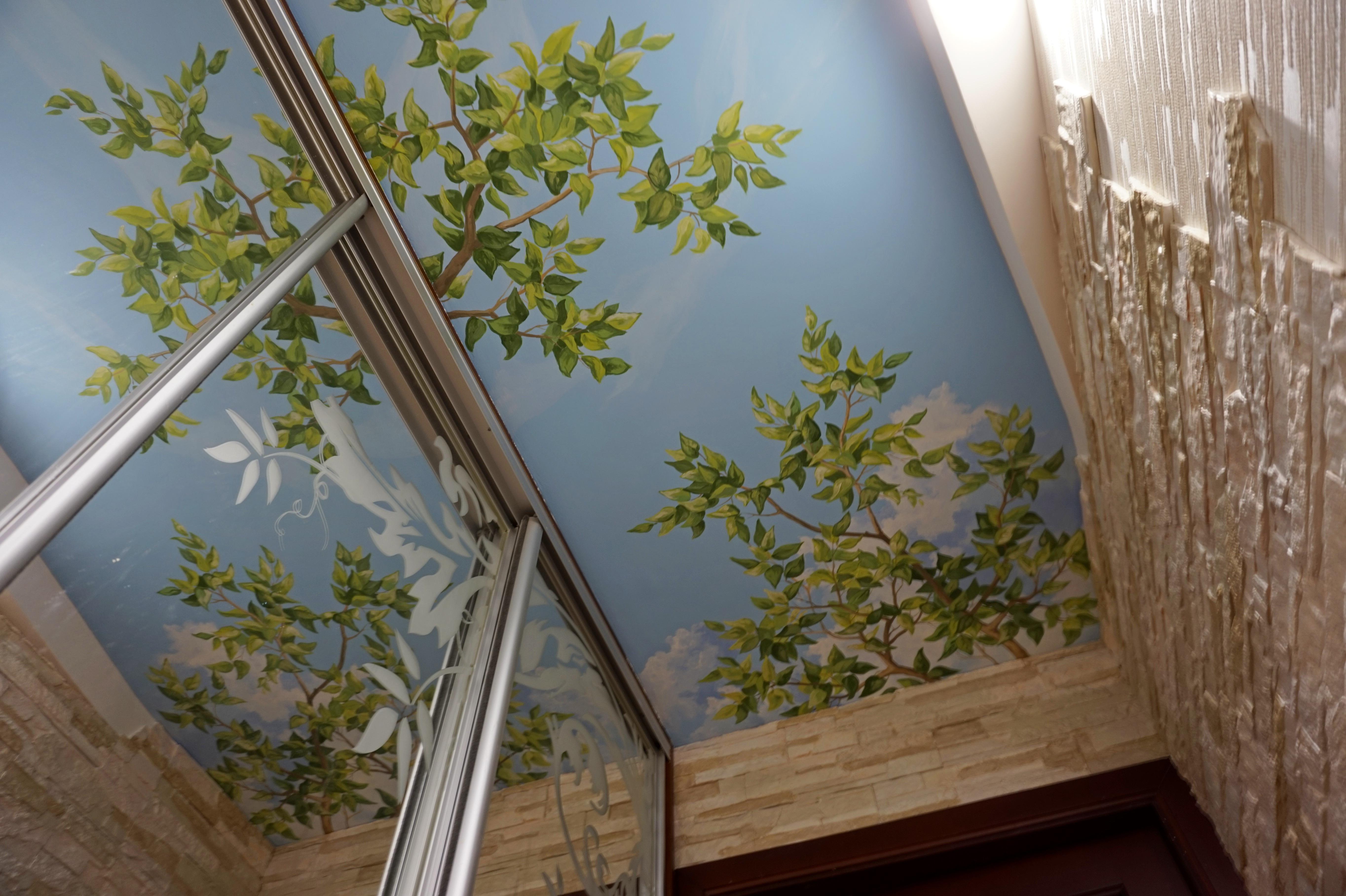Роспись потолка. Фрагмент