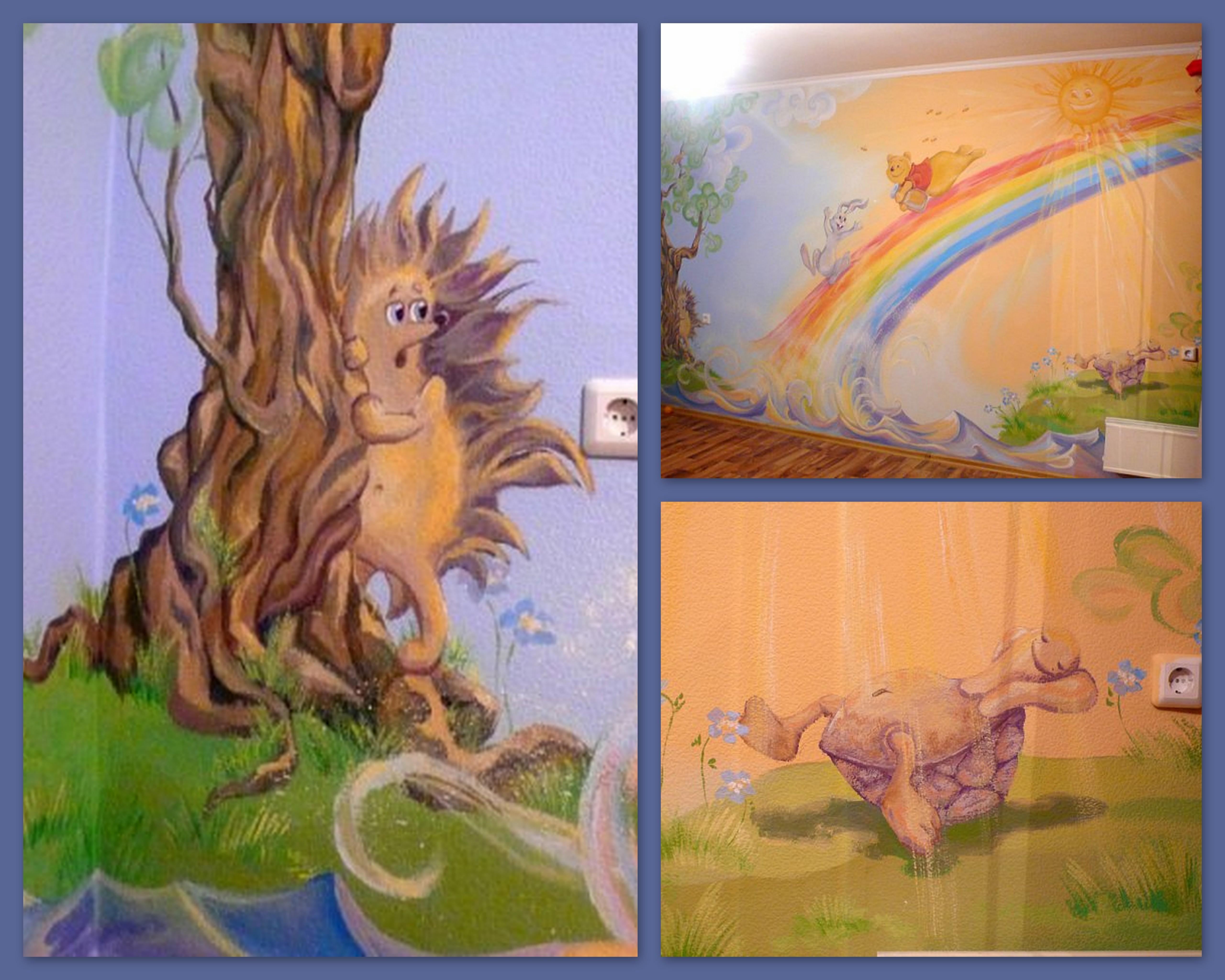 Роспись детской комнаты девочек