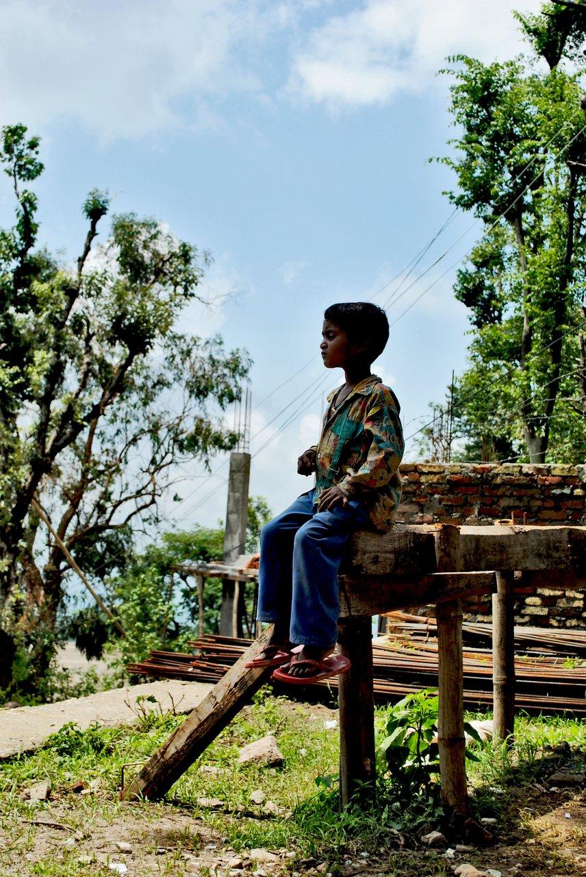 Child on Lookout, Dharmashala, India