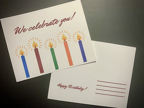 We Celebrate You Birthday Postcards (Set of 10)