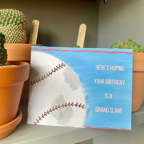 Grand Slam Birthday Card