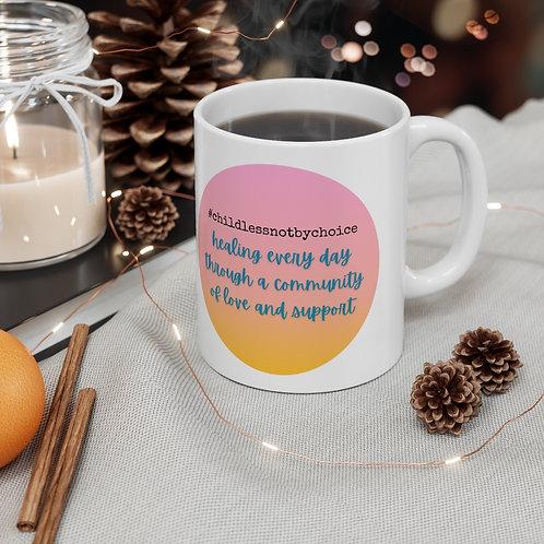 #childlessnotbychoice, Ceramic Mug 11oz