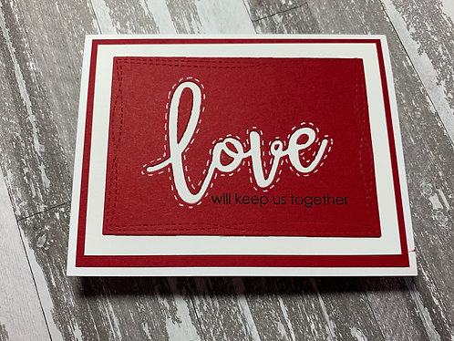Love Will Keep Us Together, Valentine's Day Card