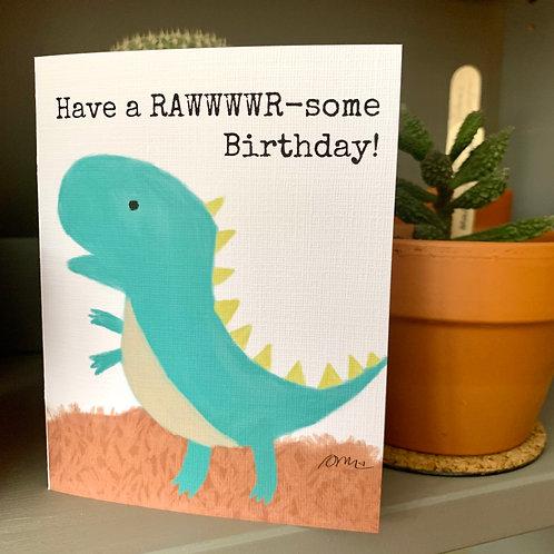 Rawwwr-some Birthday Card