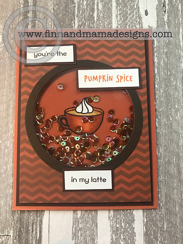 Pumpkin Spice in My Latte, Shaker, Greeting Card
