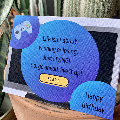 Live It Up Birthday Card