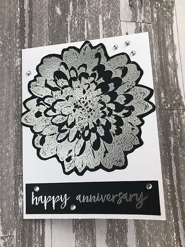 Black & Silver Dahlia, Happy Anniversary