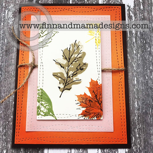 Fall Leaves, Multicolored, Greeting Card