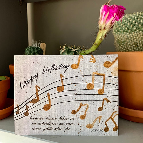 Musical Adventure Watercolor Birthday