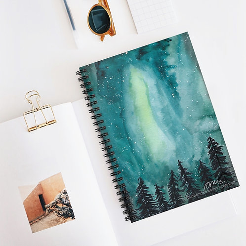 Northern Lights, Spiral Notebook - Ruled Line