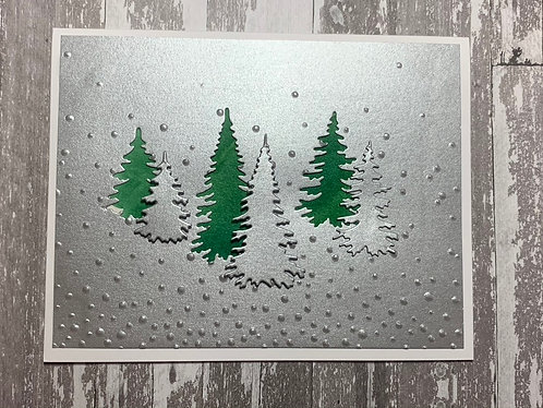 Winter Trees, Holiday Card