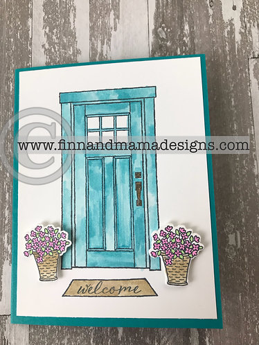 Welcome Home, New Home Card, Turquoise
