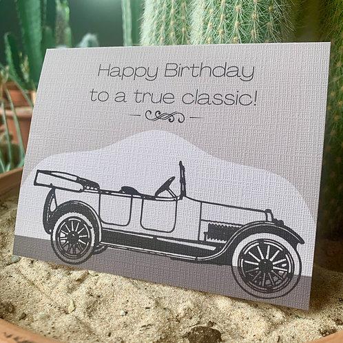 A True Classic Birthday Card