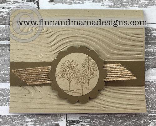 Tree Medallion on Woodgrain