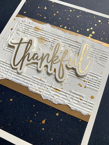 Thankful Musical Theme Card
