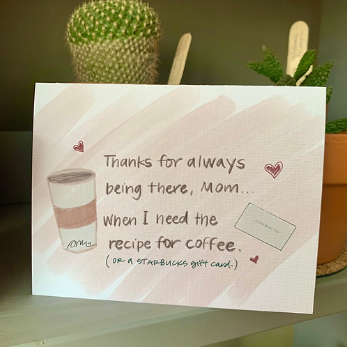 Coffee Mother's Day Card
