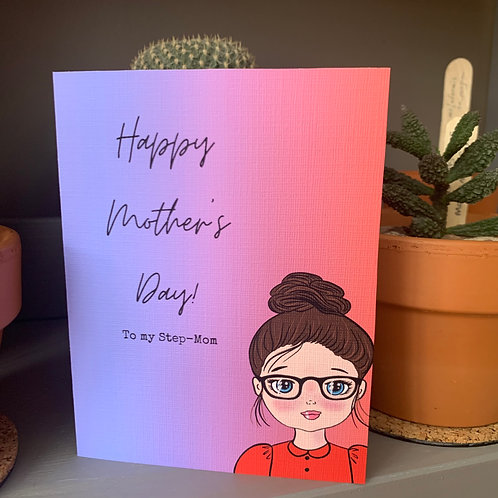 Step-Mom, Mother's Day Card