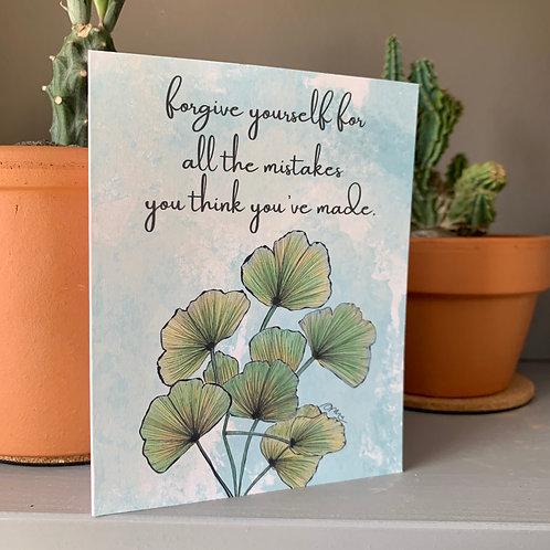Forgive Yourself Card