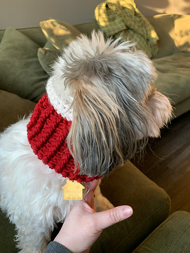 Rolled Collar Sweater Dog Cowlies (Infinity Scarf)