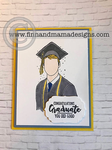 Congratulations Graduate, White/Male/Blonde
