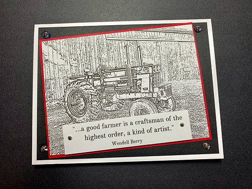 Farmer, International Harvester, Birthday Card