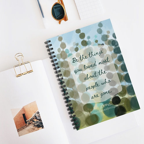 Be the Things, Spiral Notebook - Ruled Line