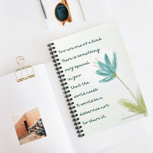 You Are One of a Kind, Spiral Notebook - Ruled Line