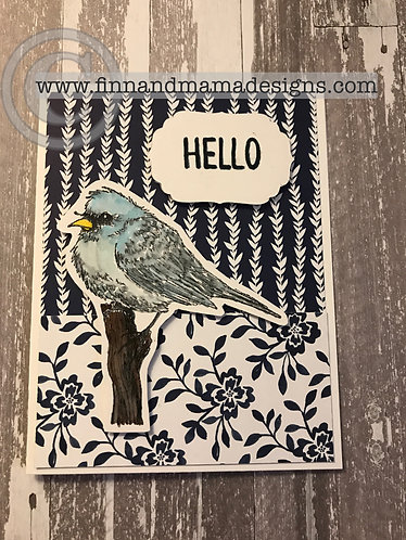 Hello Bird, Love the Little Things, Navy Blue Floral