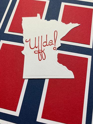 Uffda Minnesota, Norwegian Flag, Blank Card
