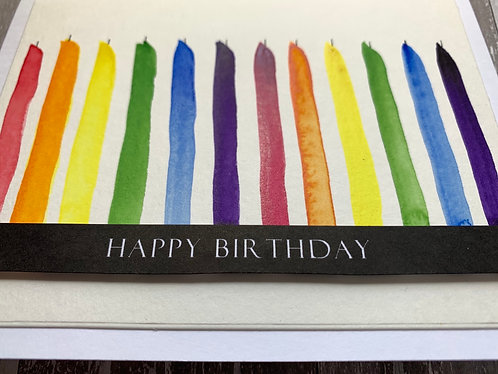Candles, Happy Birthday Card