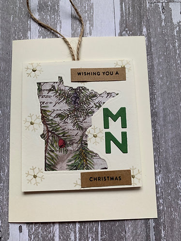 Wishing You a MN Christmas Card/Ornament