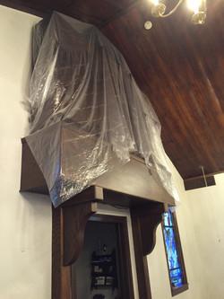 St. James Louisa, awaits new plaster