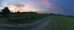 Beautiful sky from the driveway