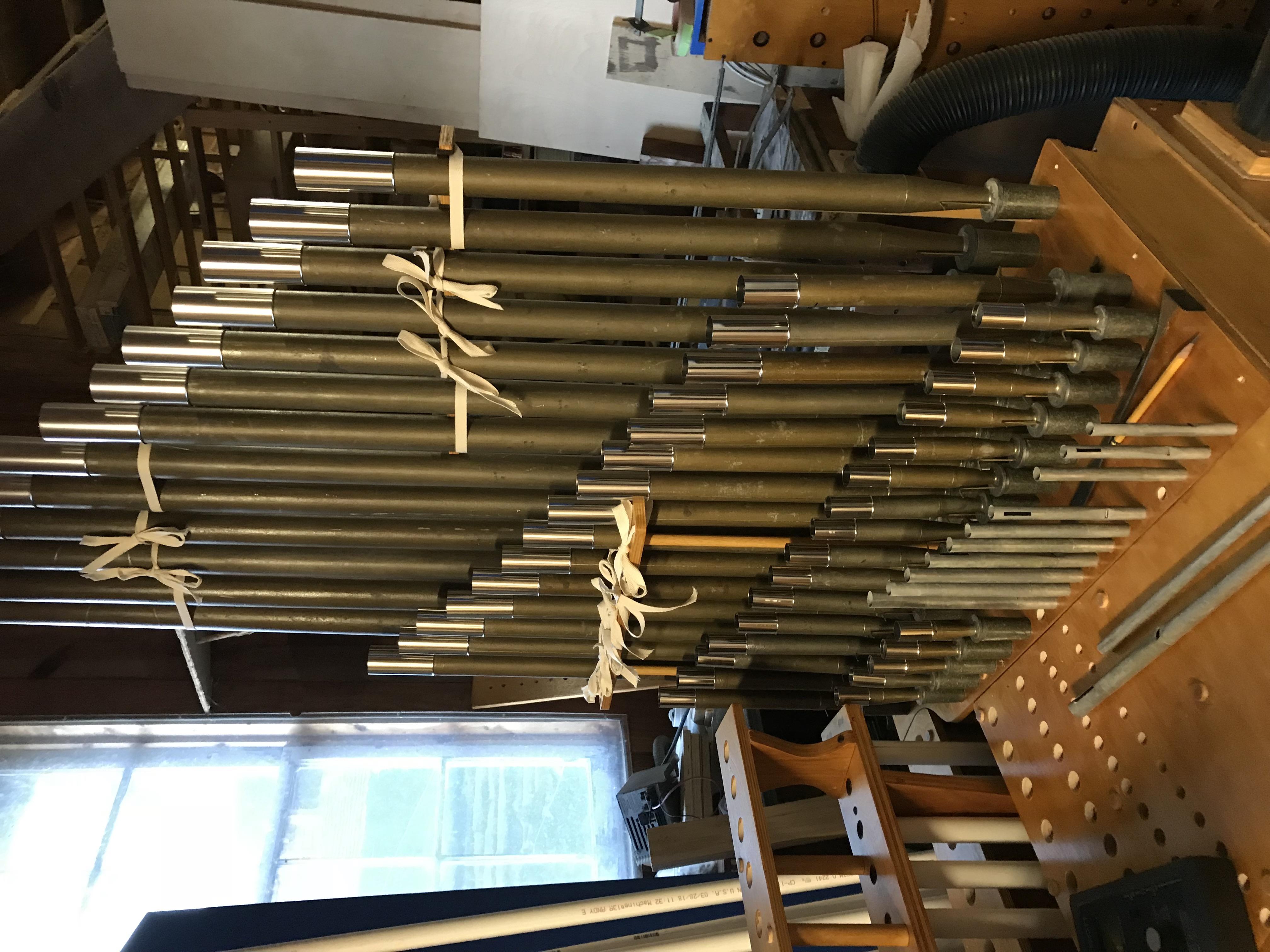 Choir pipes