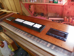 Coupler rail and control panel