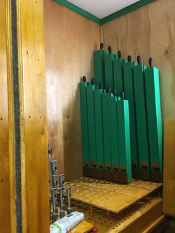 Choir bass pipes in place