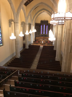 View from the antiphonal division