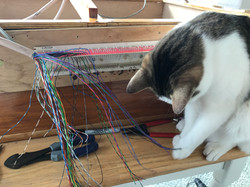 Purccy helps wire a wind chest