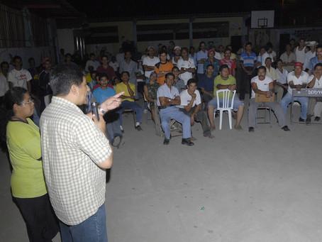 """Reunión con los trabajadores de la Asociación Sindical hacienda """"Clementina"""""""